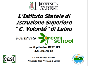 Certificato GreenSchool 14-15