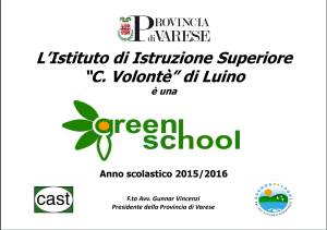 certificato green school 15-16