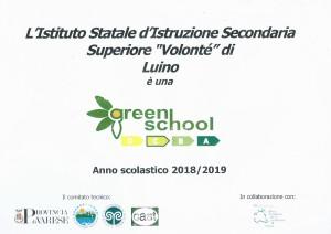 certificazione Green School 18 19